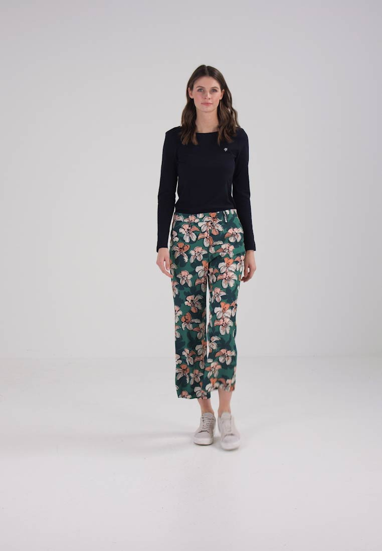 Marc OPolo PANTS CROPPED LENGTH KICK FLARED - Bukser - combo