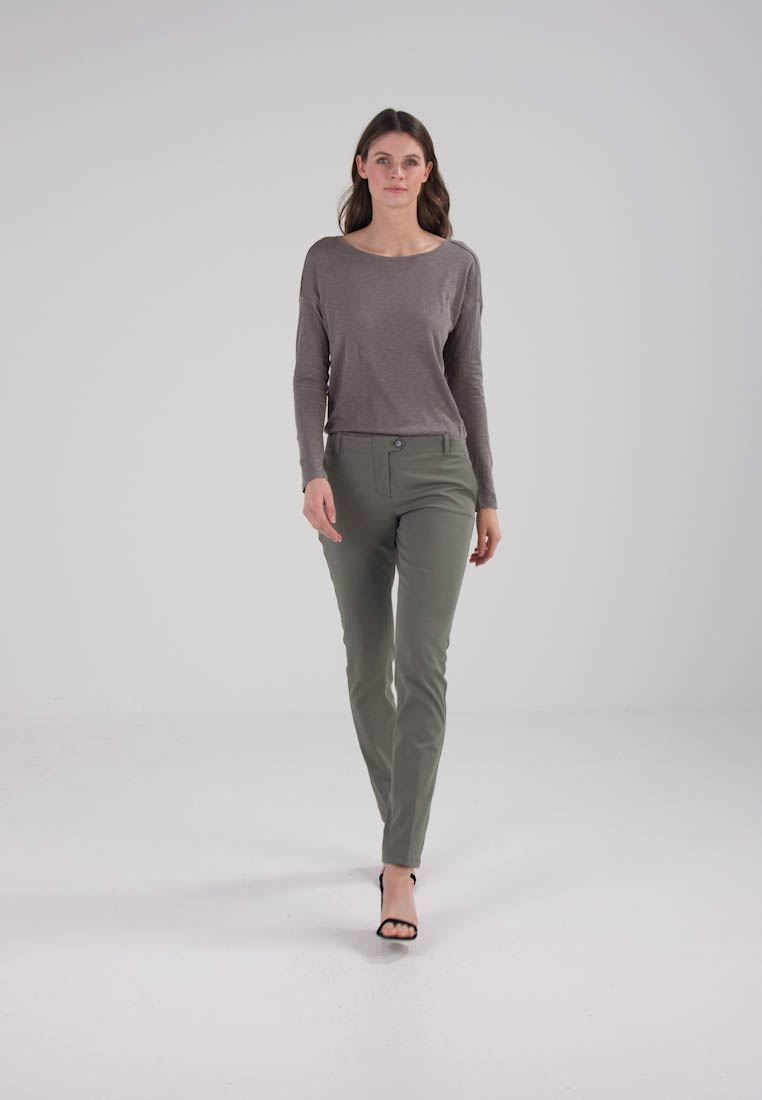 Marc OPolo PANTS LAXÅ LONG FIT REGULAR - Chinos - dusty sage