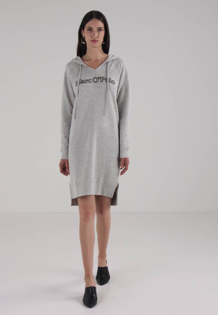 Marc OPolo DRESS HOOD - Robe dété - pebble melange