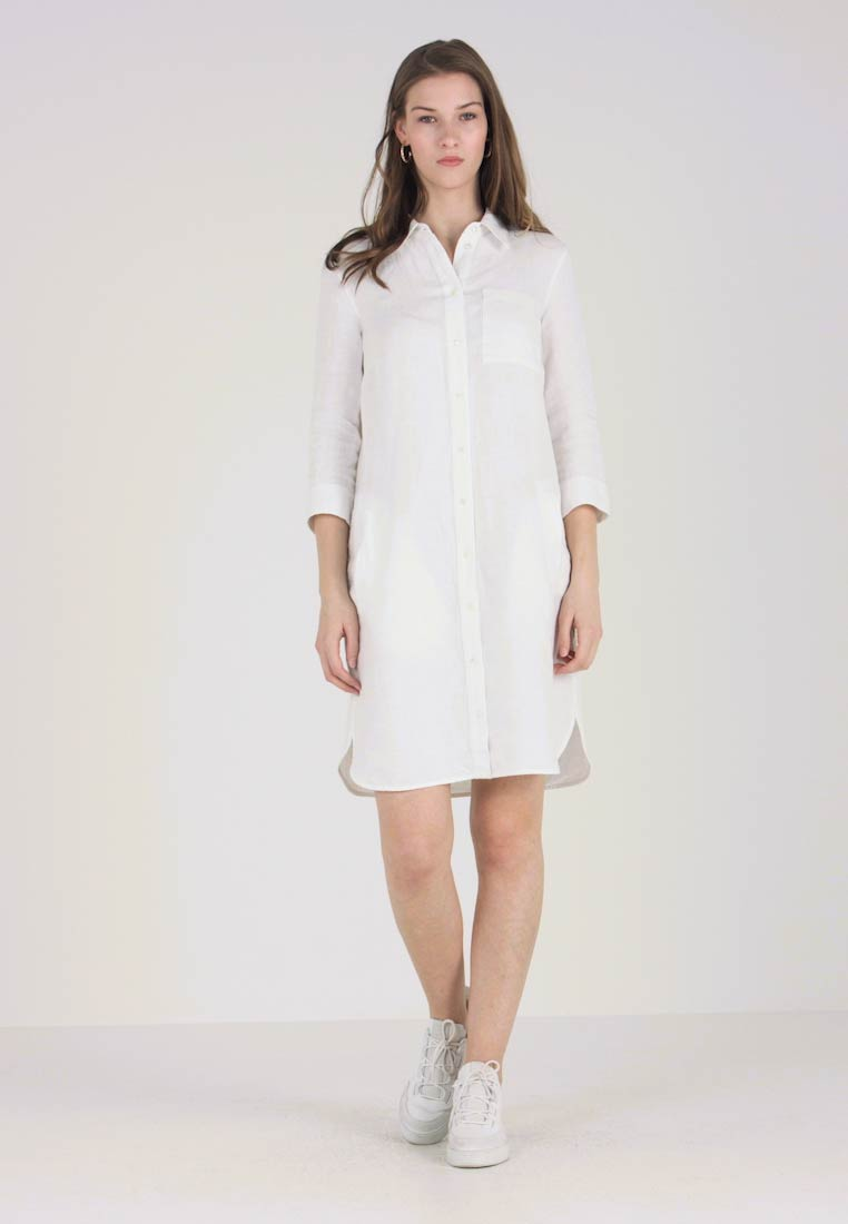 Marc O'Polo - DRESS COLLAR - Shirt dress - white