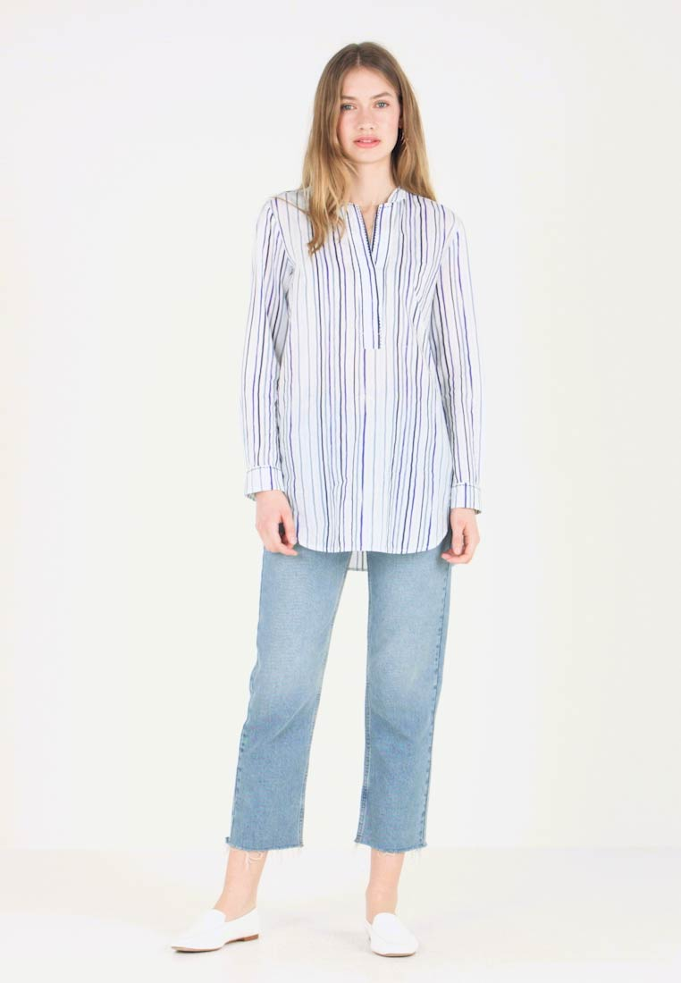 Marc O'Polo - BLOUSE LONG SLEEVED - Bluse - light blue