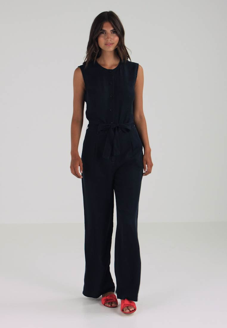 1c183cd7188ab0 Marc O Polo - OVERALL WIDE LEG BUTTON PLACKET - Overall   Jumpsuit - blue
