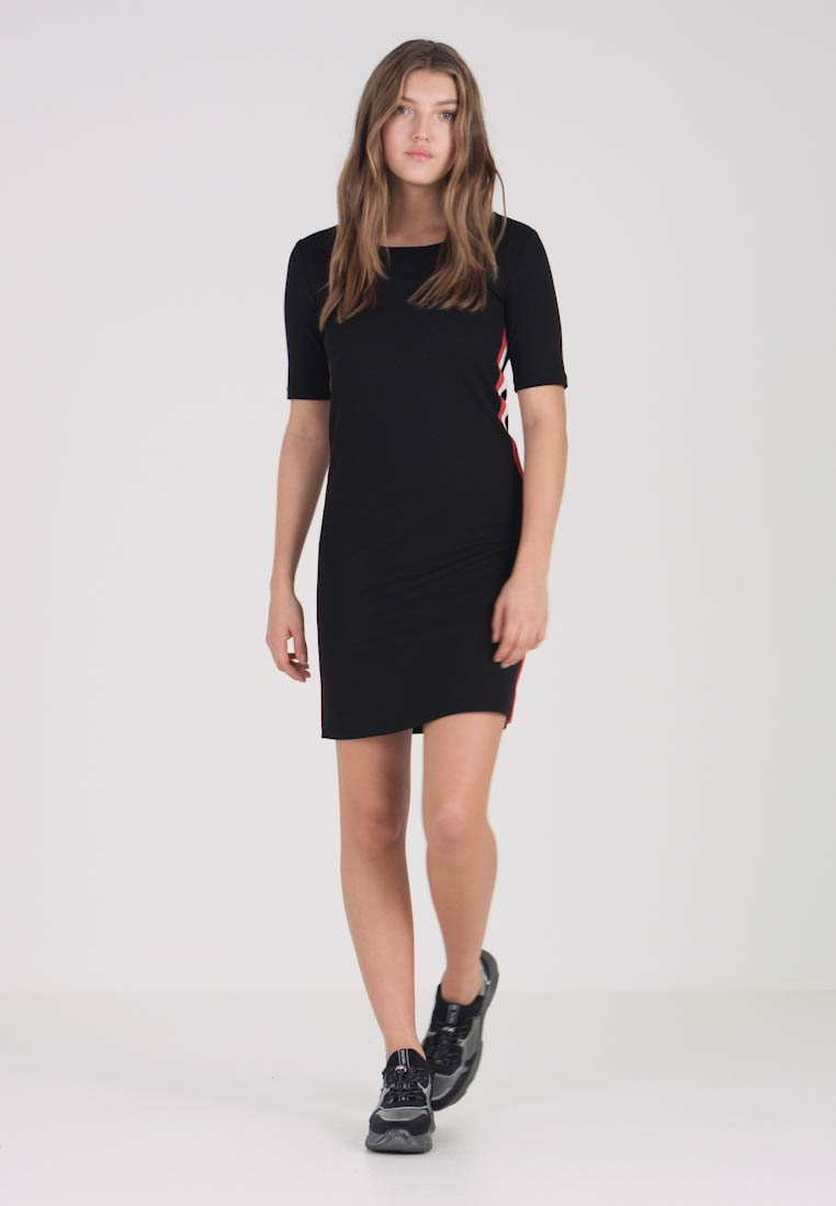 Mavi - TAPE DETAIL DRESS - Jerseyjurk - black