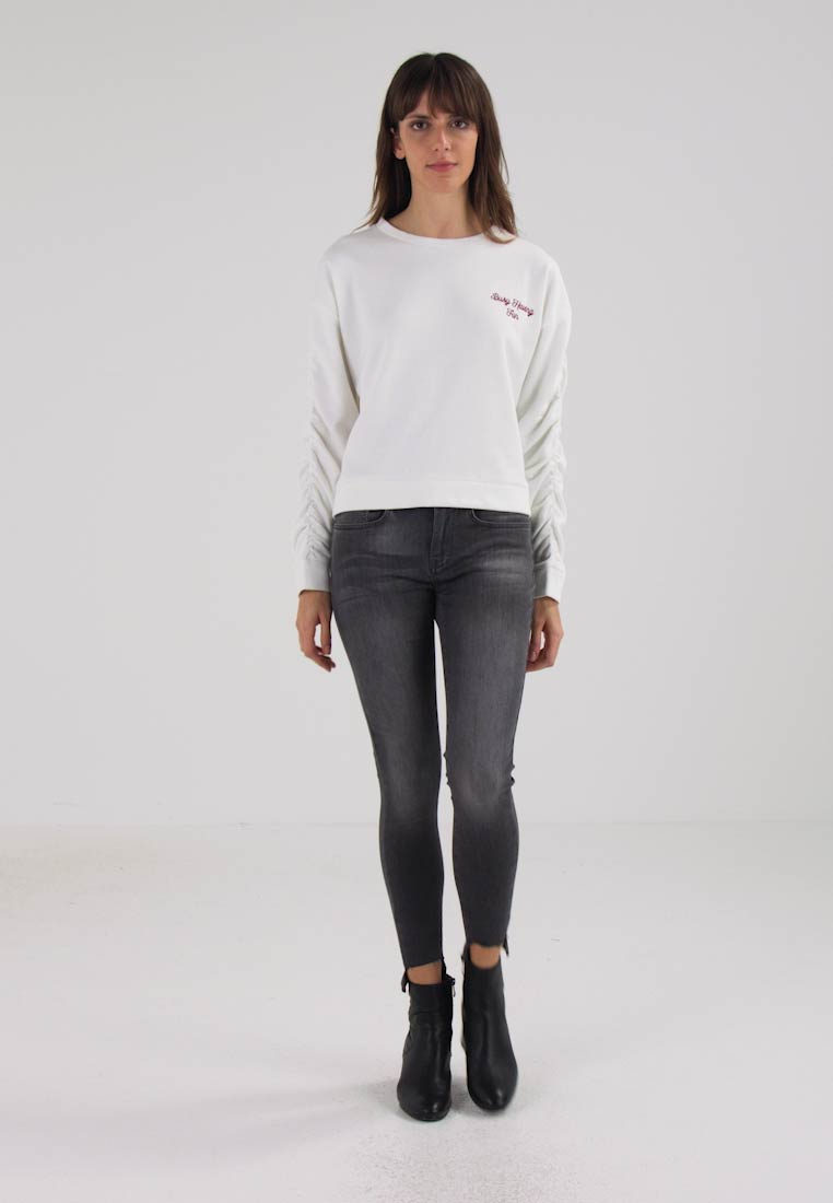 mavi embroidery sweatshirt antique white zalando de