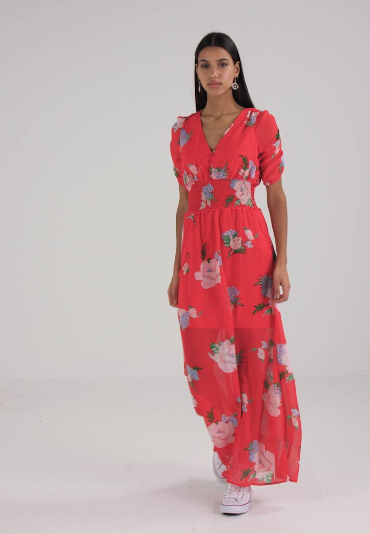 Miss Selfridge FLORAL DRESS - Robe longue - red