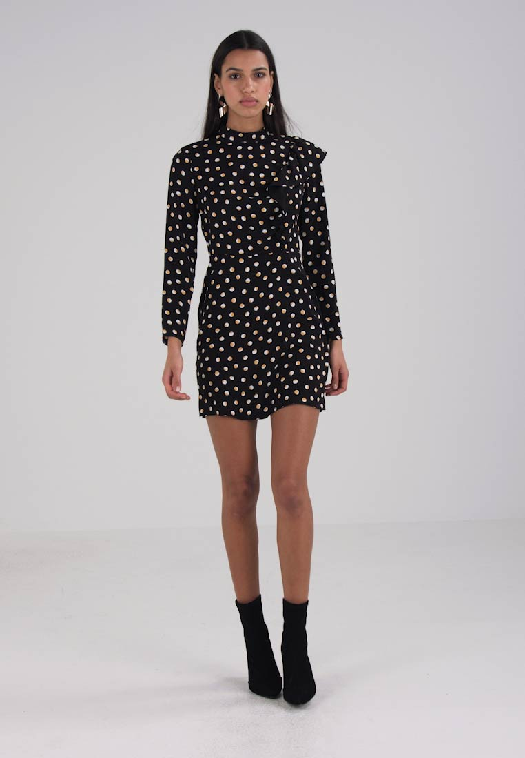 Miss Selfridge EMILY HIGH NECK POLKA DOT DRESS - Korte jurk