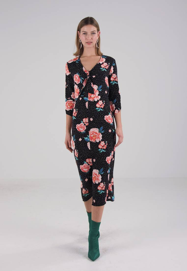 Miss Selfridge SPLIT FRONT MIDI DRESS - Robe dété - multi