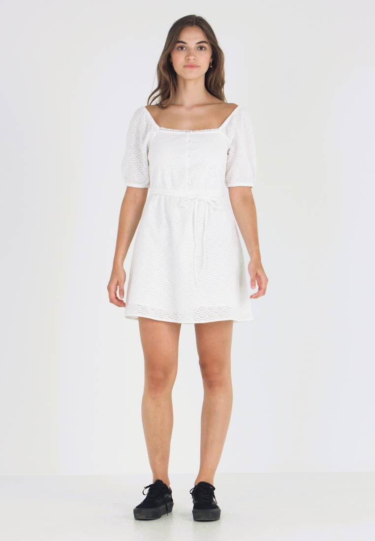 Miss Selfridge - MILKMAID FIT AND FLARE - Shirt dress - ivory