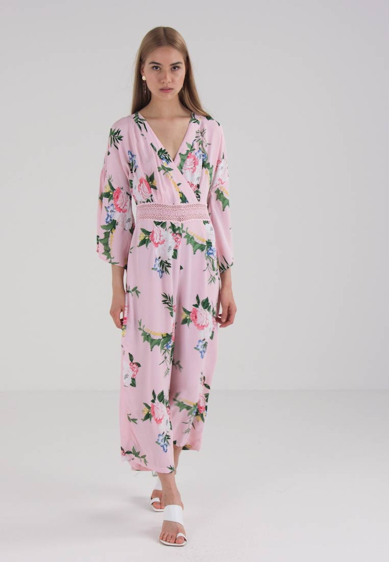Miss Selfridge FLORAL INSERT - Jumpsuit - white/pink