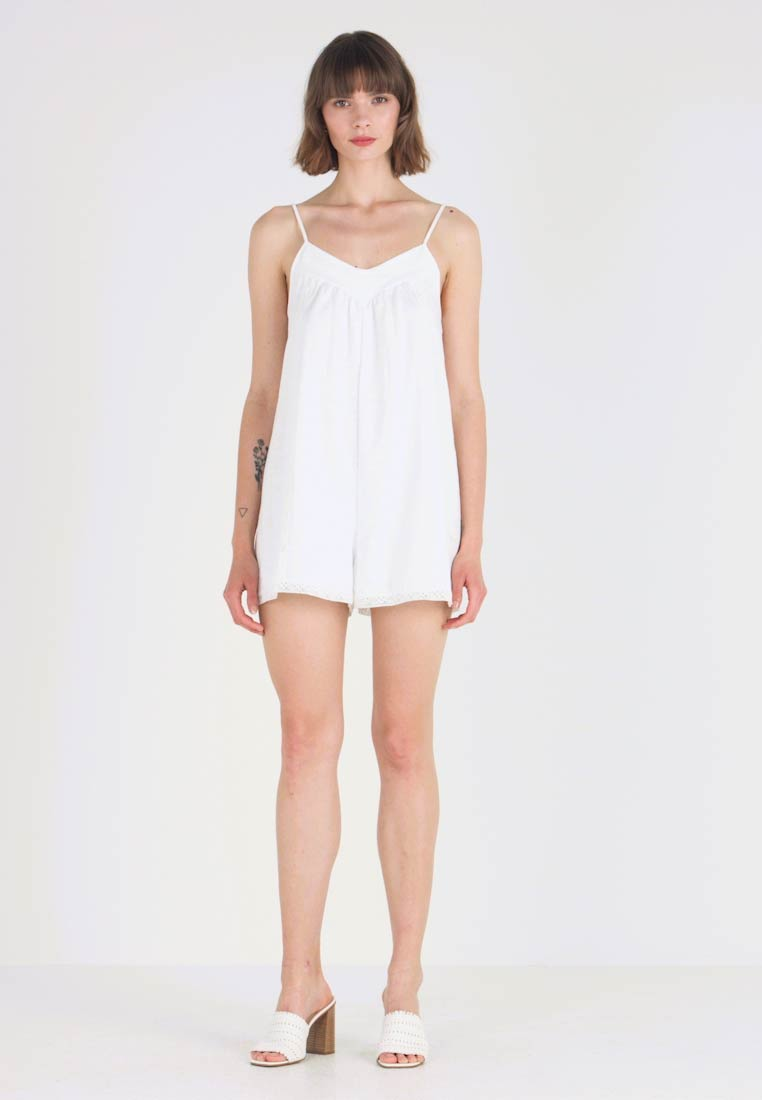 Miss Selfridge - PLAIN ROMPER - Kombinezon - white