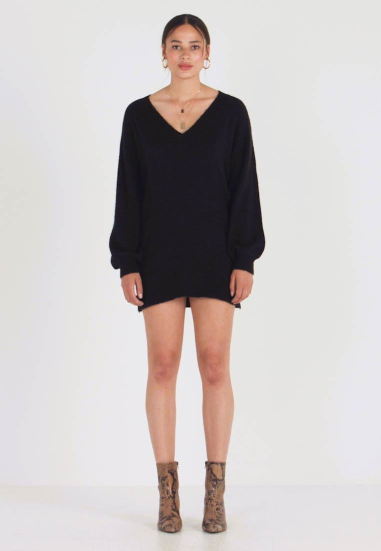 Moves - SAVILLA DRESS - Robe pull - black