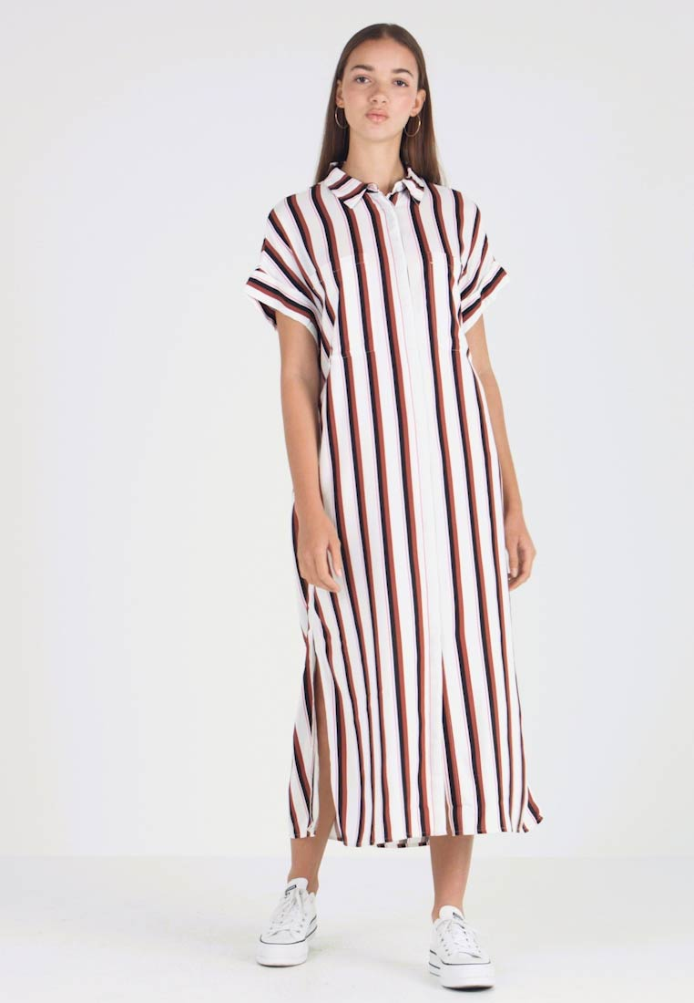 Monki - ILLY DRESS - Vestido camisero - neon rust