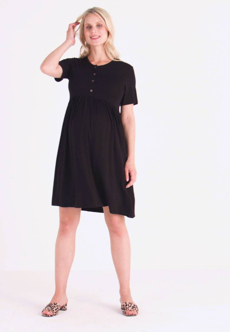 New Look Maternity - NURSING SMOCK DRESS - Robe en jersey - black