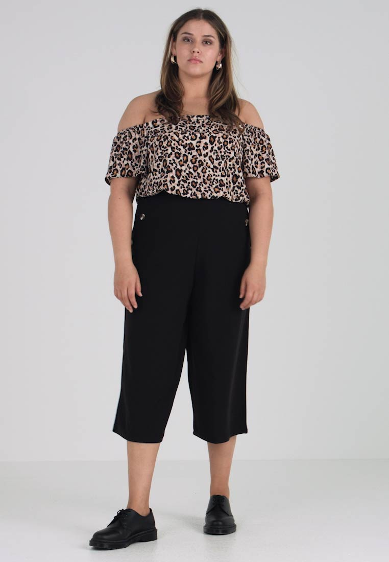 Curves Bukser Look BUTTON SIDE CULOTTE New PLAIN p75xwn44
