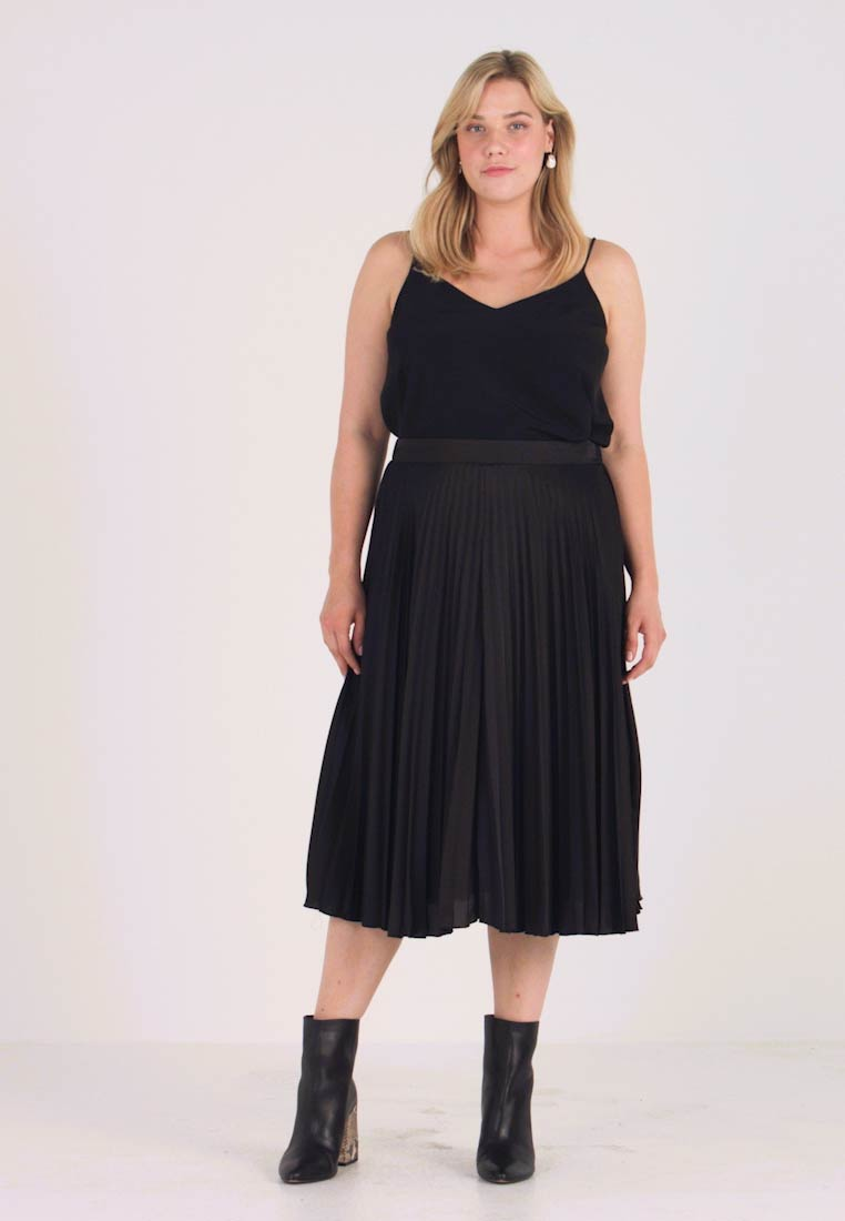 New Look Curves - PLEAT MIDI - A-snit nederdel/ A-formede nederdele - black