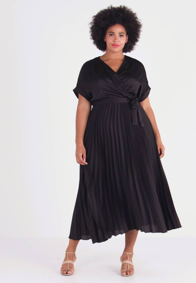 New Look Curves - GO PLEATED DRESS - Denní šaty - black