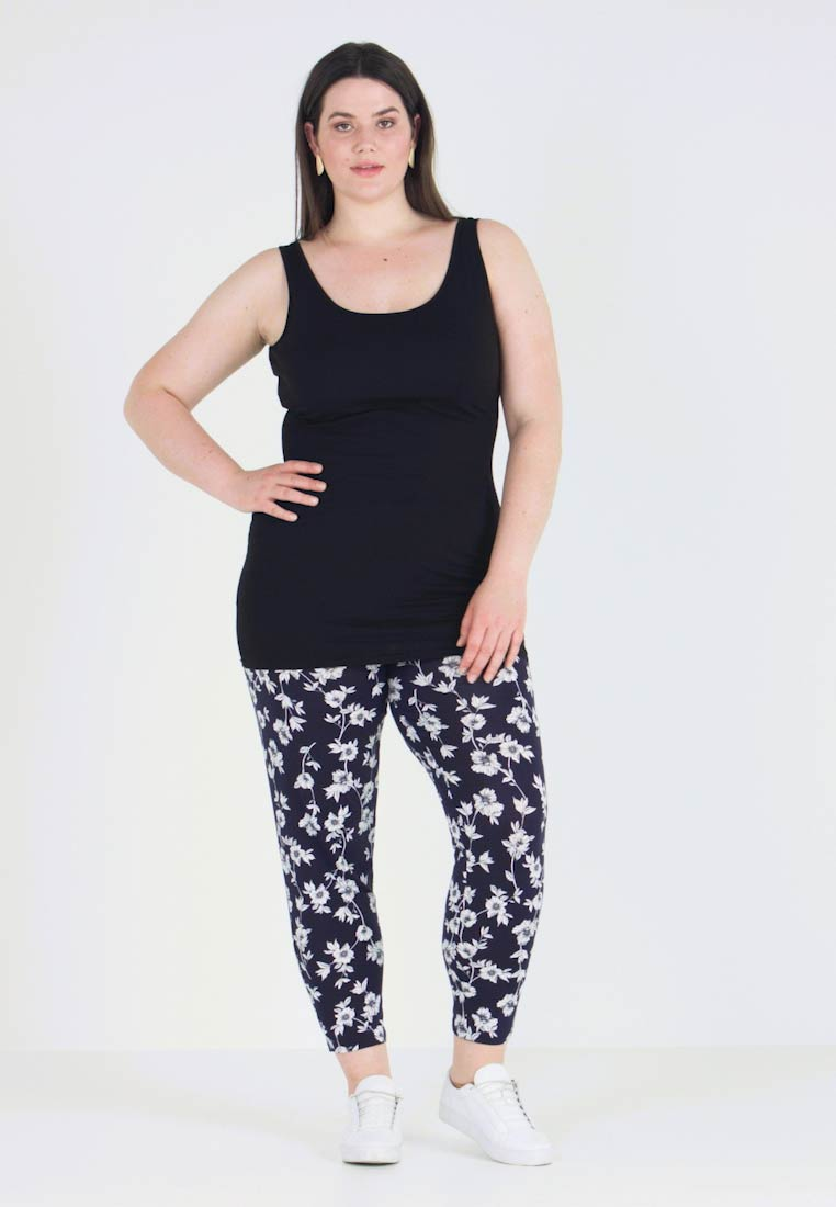 New Look Curves - NEW LONGLINE 2 PACK - Toppe - black/white