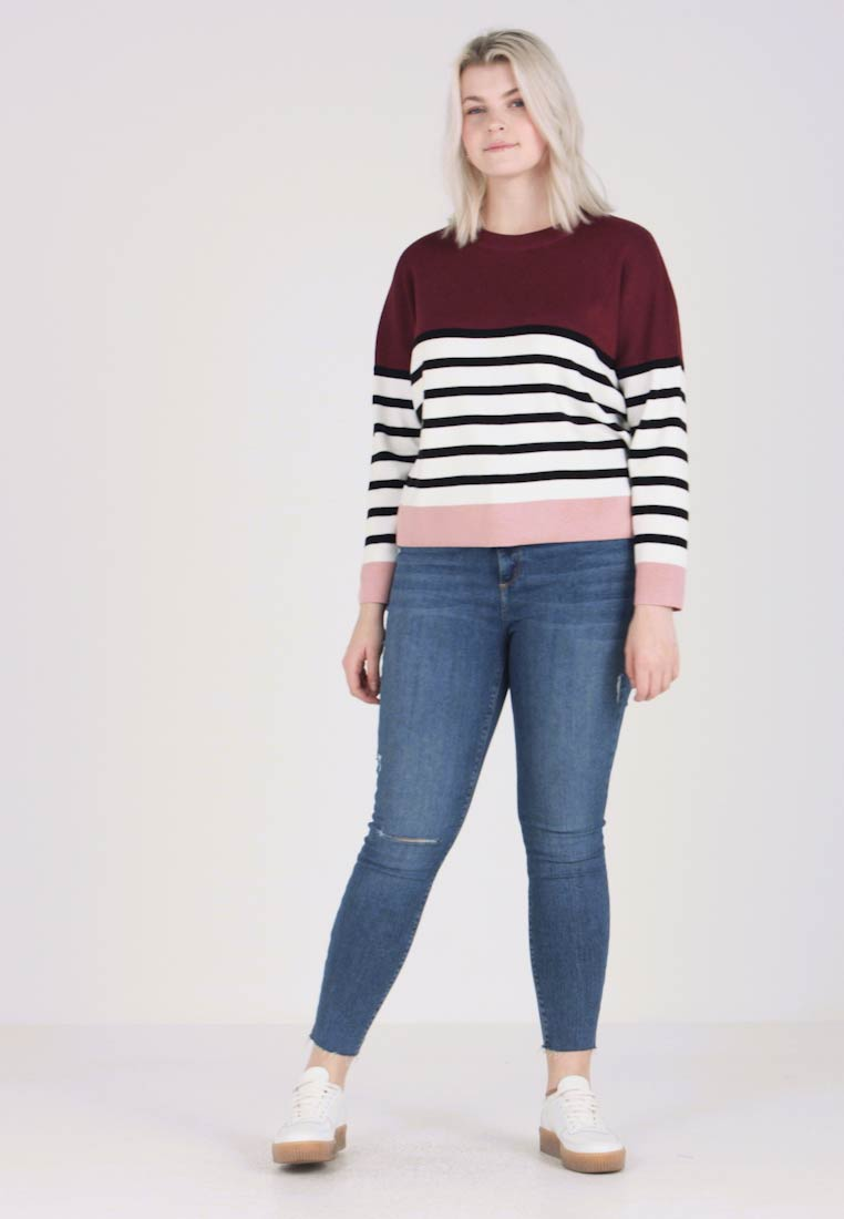 New Look Curves - MARIE CLEAN COLOUR BLOCK JUMPER - Jumper - red