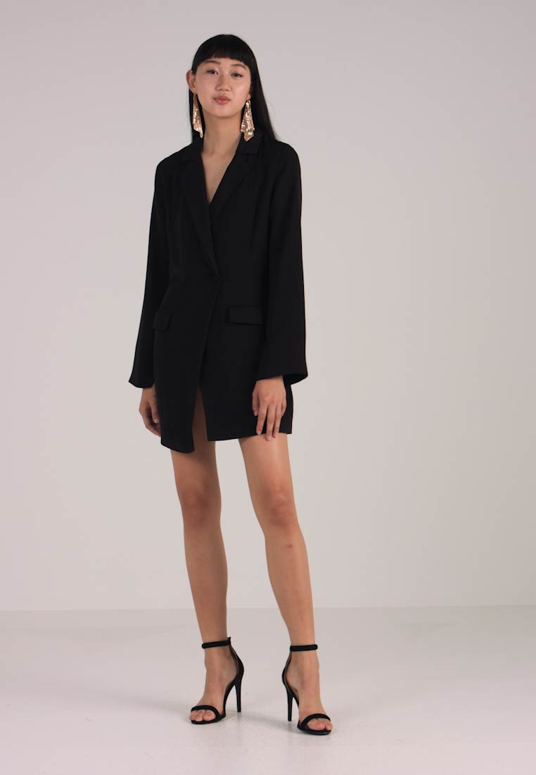NA-KD - BLAZER DRESS - Skjortekjole - black