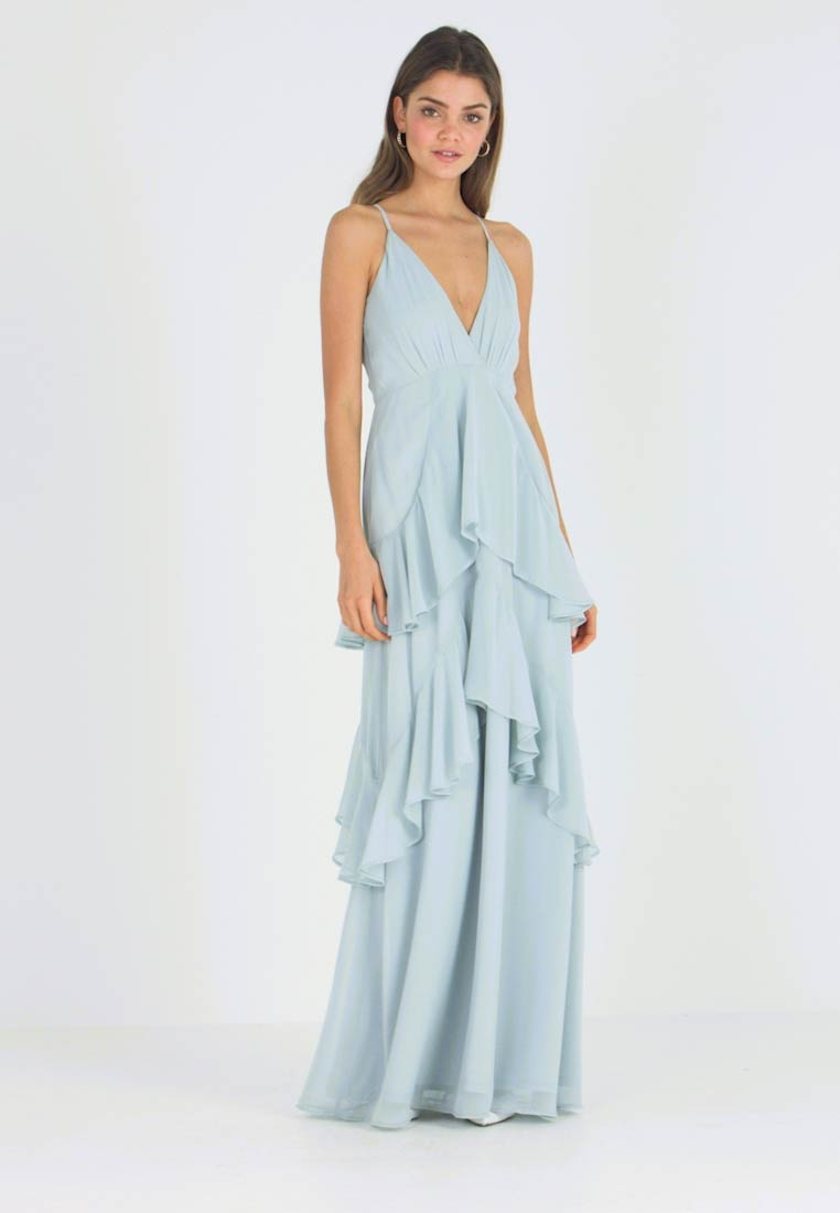 Nly by Nelly - FLOUNCE BOTTOM FRILL GOWN - Gallakjole - pistage