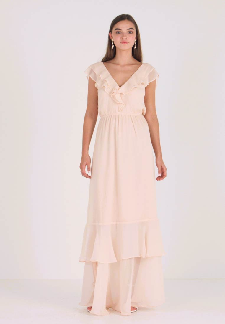 Nly by Nelly - SHEER FRILL GOWN - Ballkleid - peach