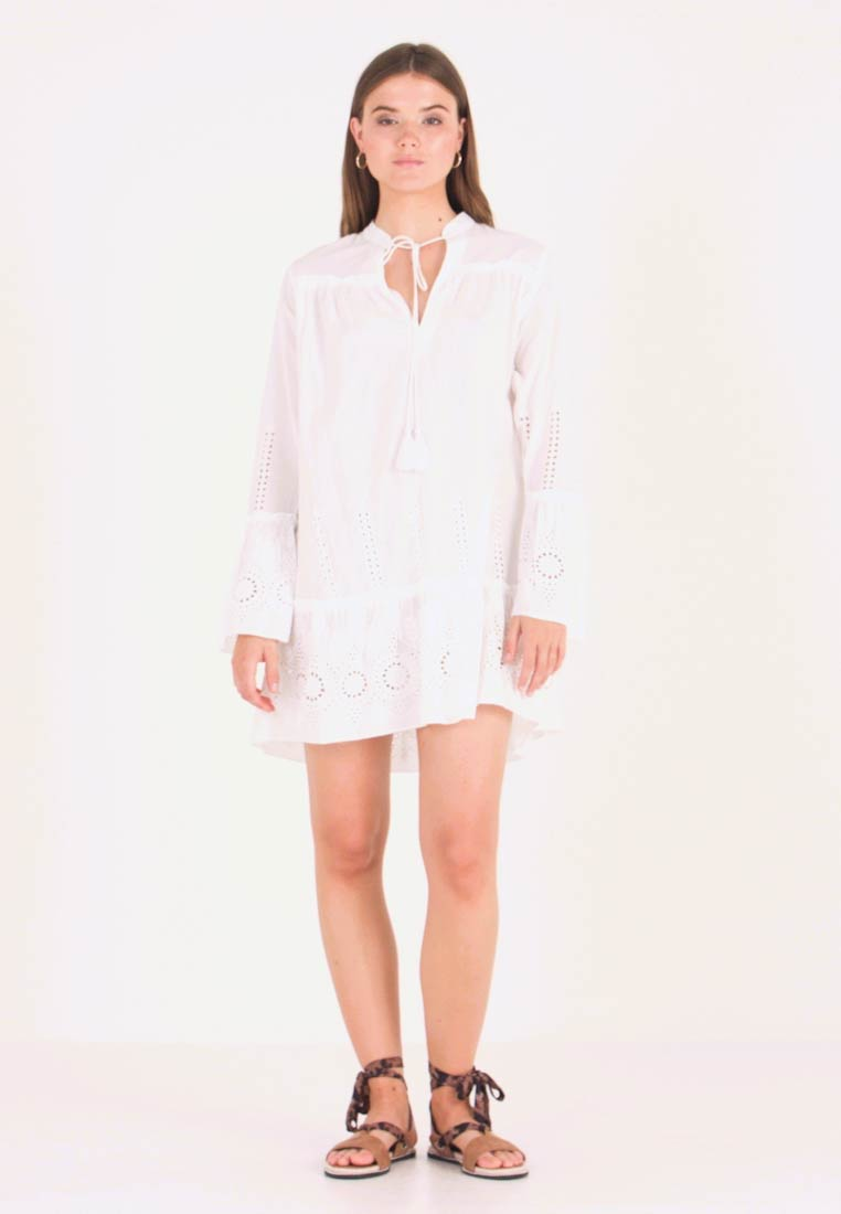 Nly by Nelly - BOHO TUNIC DRESS - Day dress - white
