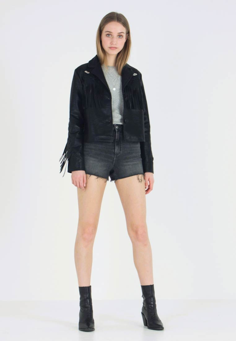 Nly by Nelly - WESTERN JACKET - Faux leather jacket - black