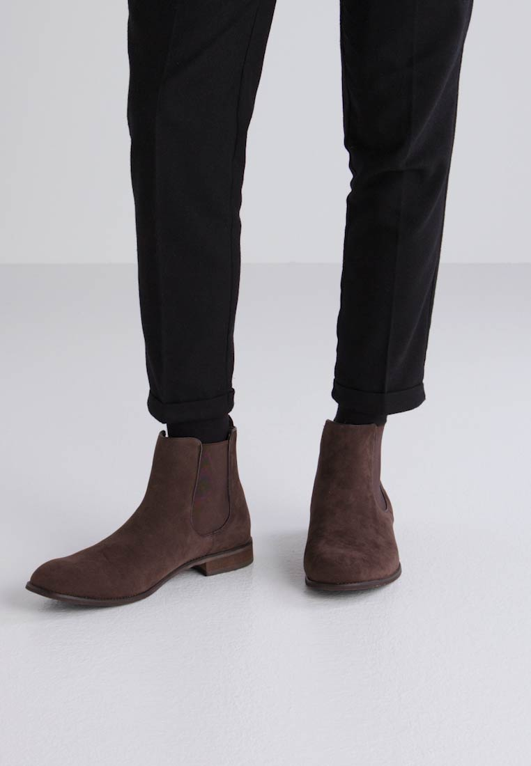 New Classic Ankle Dark Boots Brown Chelsea Look xq0CUwO0H