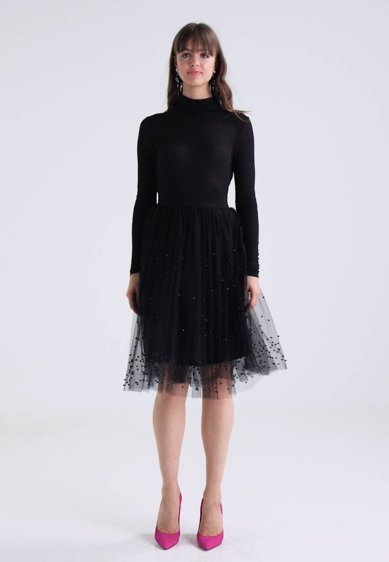 New Look BEAD MIDI SKIRT - A-line skjørt black