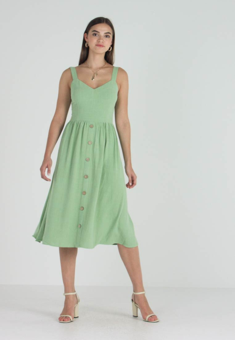 New Look - BUTTON FRONT - Freizeitkleid - pastel apple