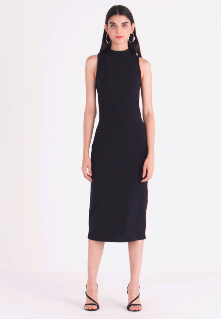 New Look - HIGH NECK MIDI - Etuikleid - black