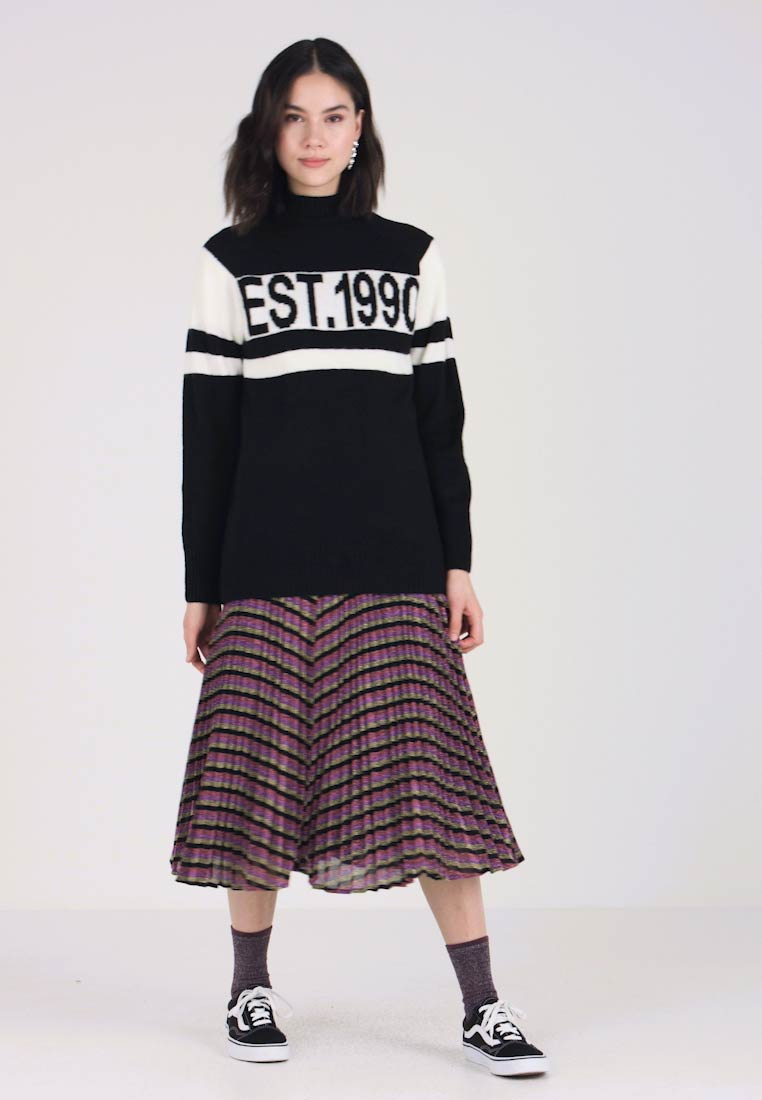 New Look - GERMAIN SLOGAN JUMPER - Strickpullover - black