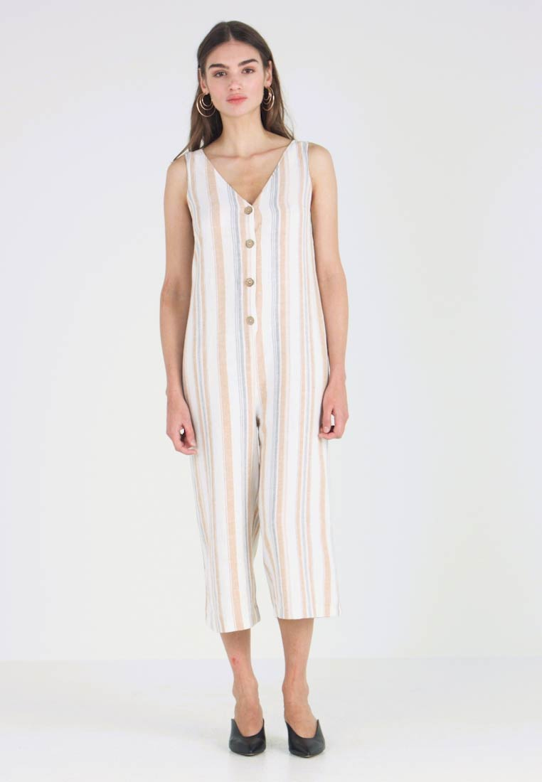 New Look - PRINT FRONT ROMPER - Jumpsuit - white