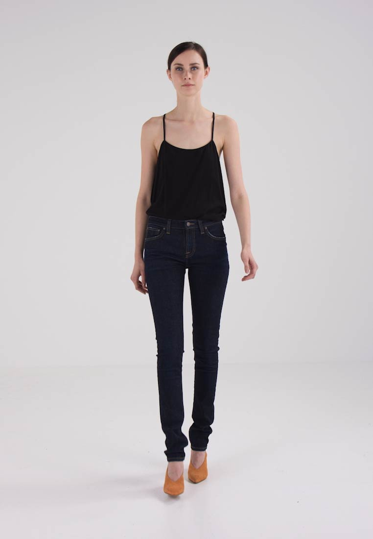 Nudie Jeans LIN - Jeans Skinny Fit - dark dark-blue denim