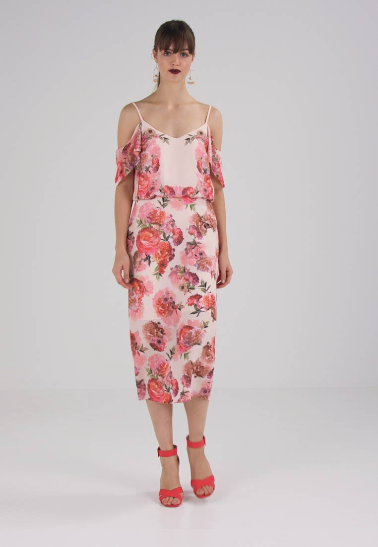 Oasis ROMANCE ROSE COLD SHOULDER MIDI - Maxi-jurk