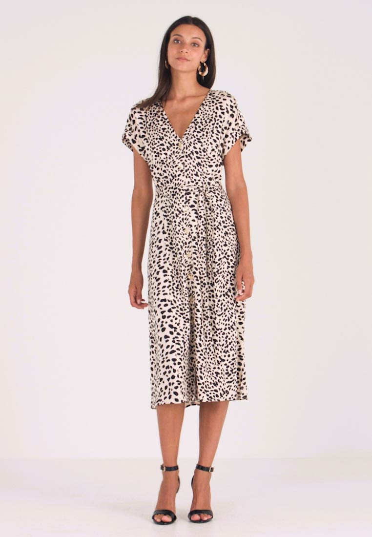 Oasis - SHATTERED HEART MIDI - Shirt dress - black/white