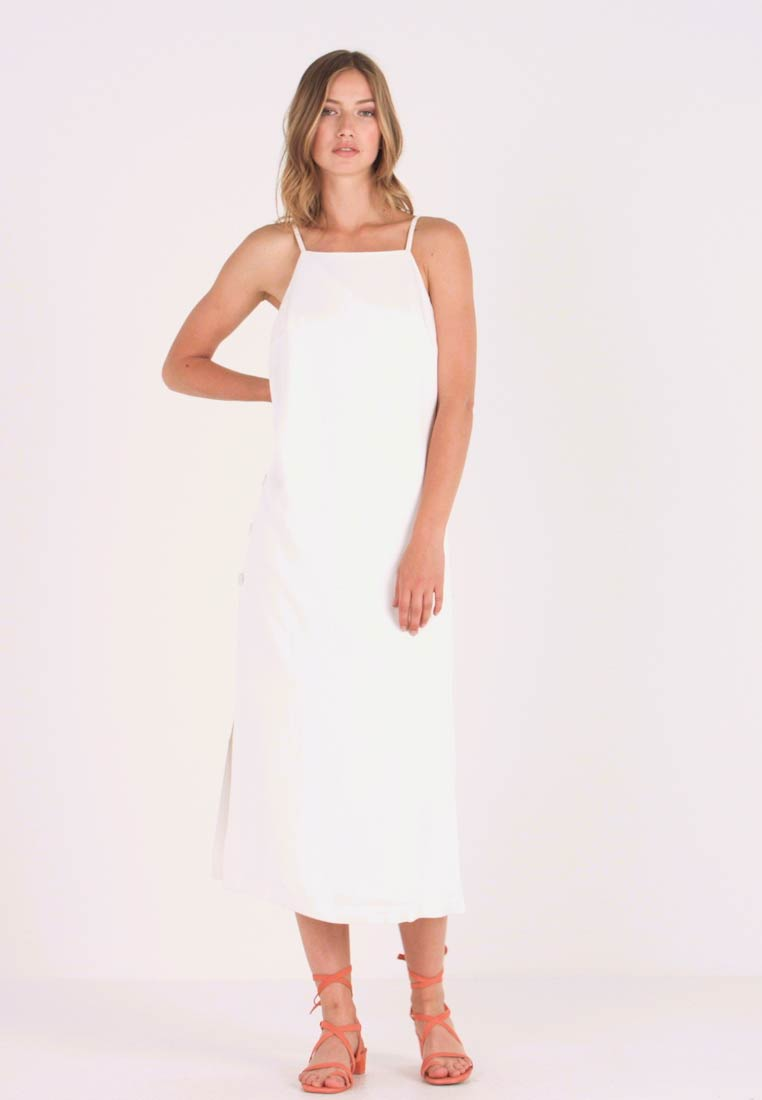 Oasis - BUTTON SIDE DRESS - Maxi dress - off white