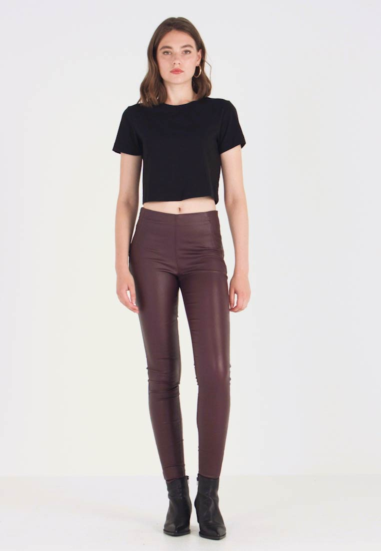 Object - OBJBELLE COATED - Trousers - port royale