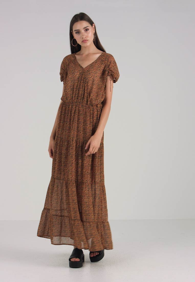 Brown Buckthorn Dress Object Objcasey Maxi Multicolor spotted fCqwI7w
