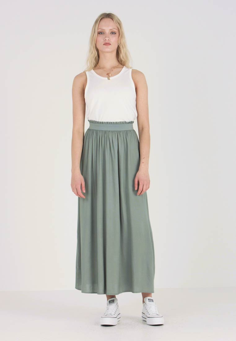 ONLY - ONLVENEDIG - Maxi skirt - chinois green