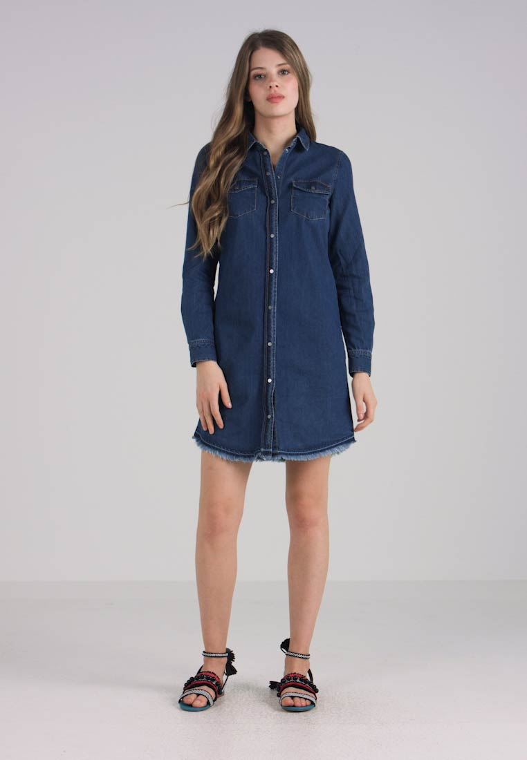 ONLY - Dongerikjole - dark blue denim