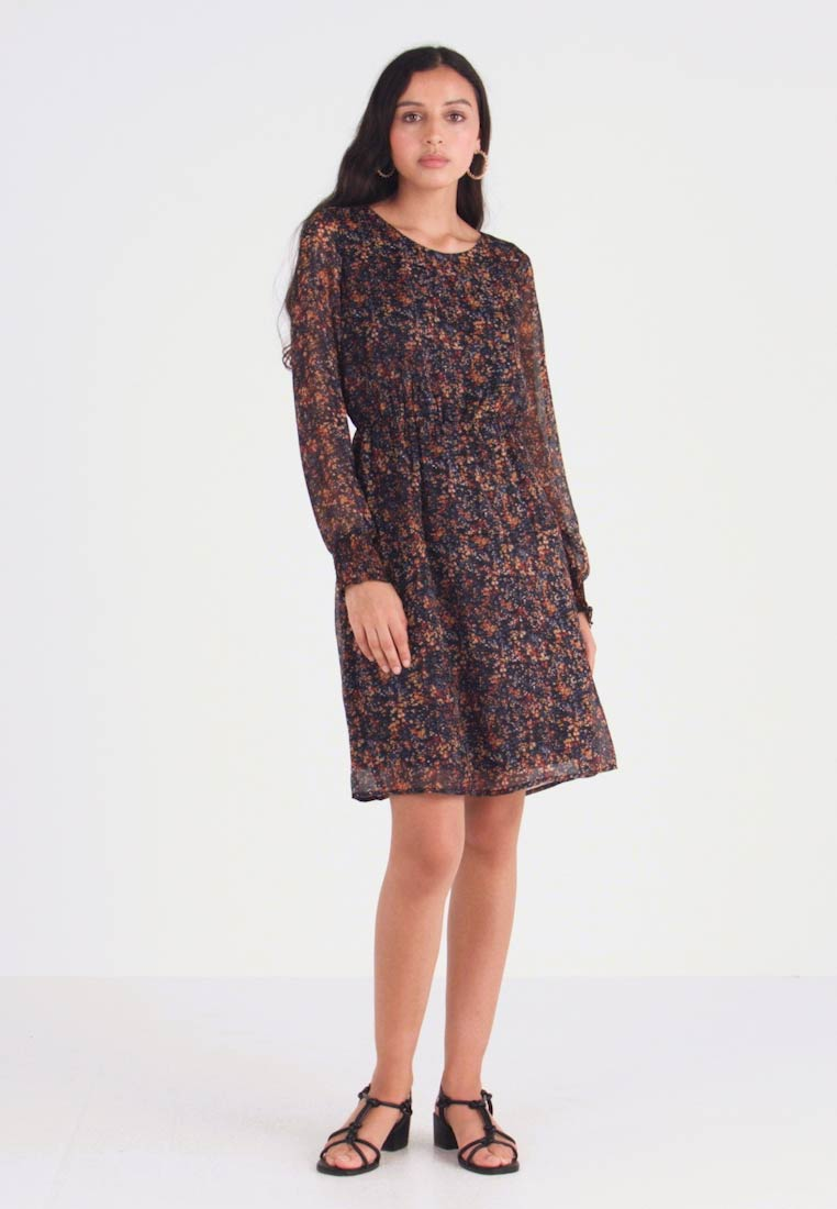 ONLY - ONLLIA CLEO SLEEVE DRESS - Hverdagskjoler - night sky