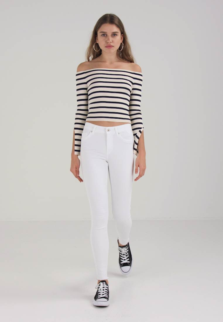 ONLY - ONLBLUSH RAW - Jeans Skinny Fit - white