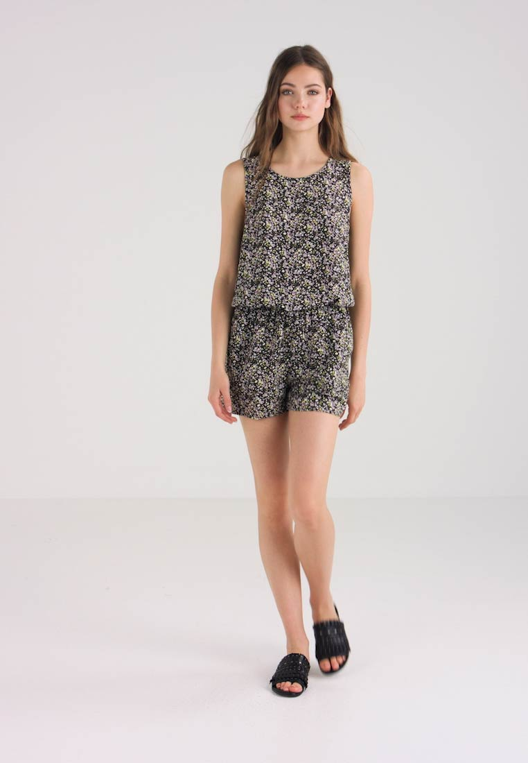 ONLY - ONLSANDRA PLAYSUIT  - Jumpsuit - black/ditsy print