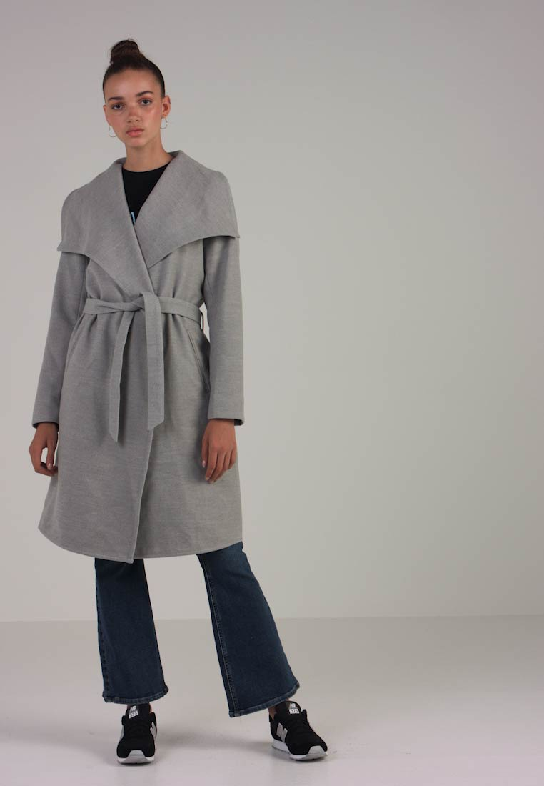 ONLY - ONLPHOEBE DRAPY COAT  - Frakker / klassisk frakker - light grey melange