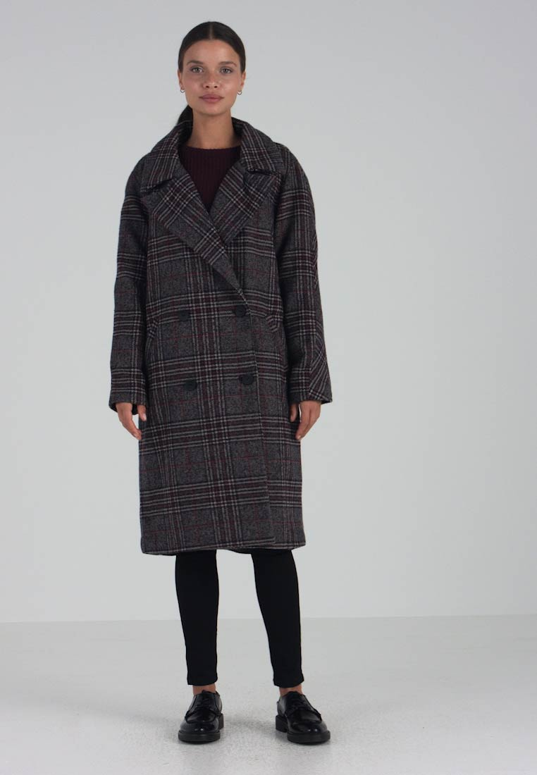 ONLY Petite - ONLADRIANA OVERSIZED CHECK COAT - Wollmantel/klassischer Mantel - night sky