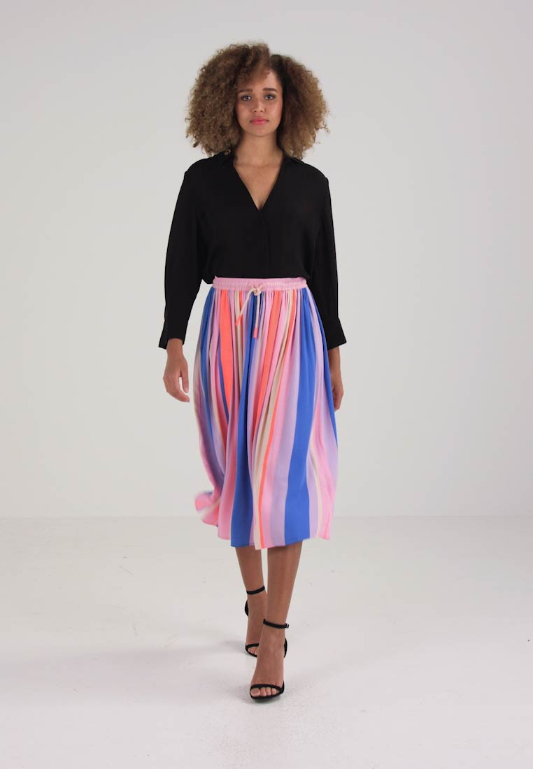 Marc OPolo DENIM SKIRT COLOR CONTRAST ELASTIC - A-lijn rok - multi