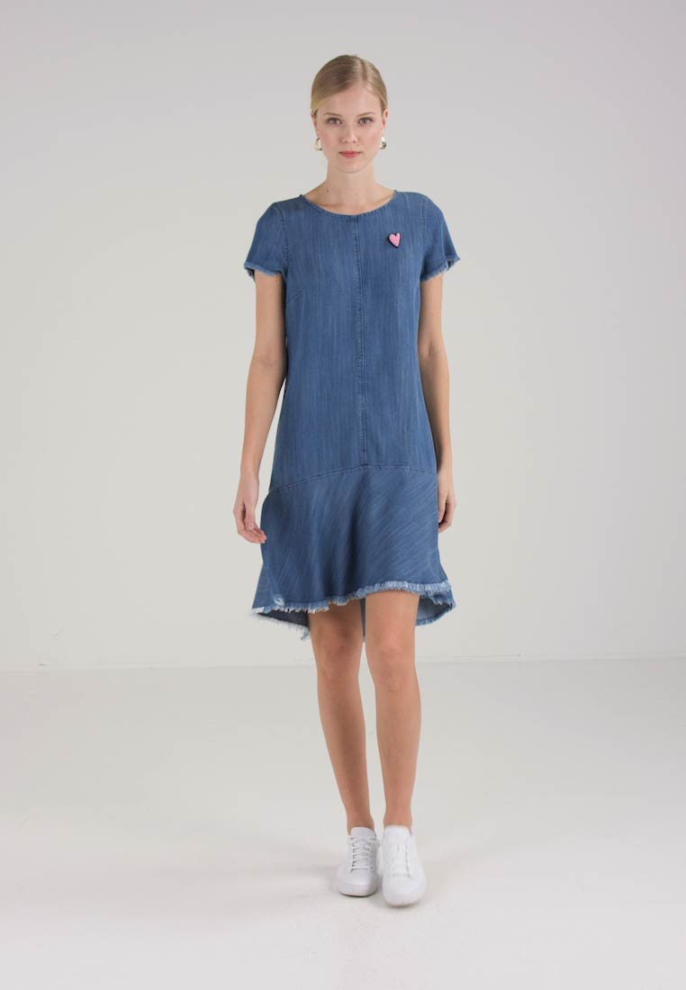 Marc O'Polo DENIM DRESS KNEE LENGTH SHORT - Denim dress - combo -  Zalando.co.uk