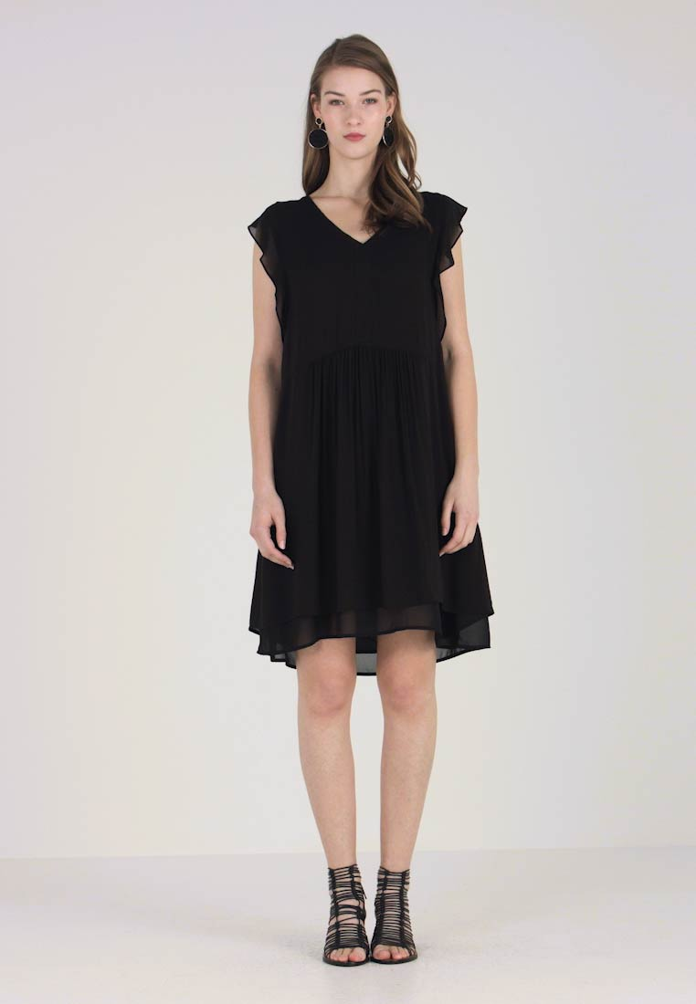 Marc O'Polo DENIM - DRESS FABRIC MIX - Day dress - black