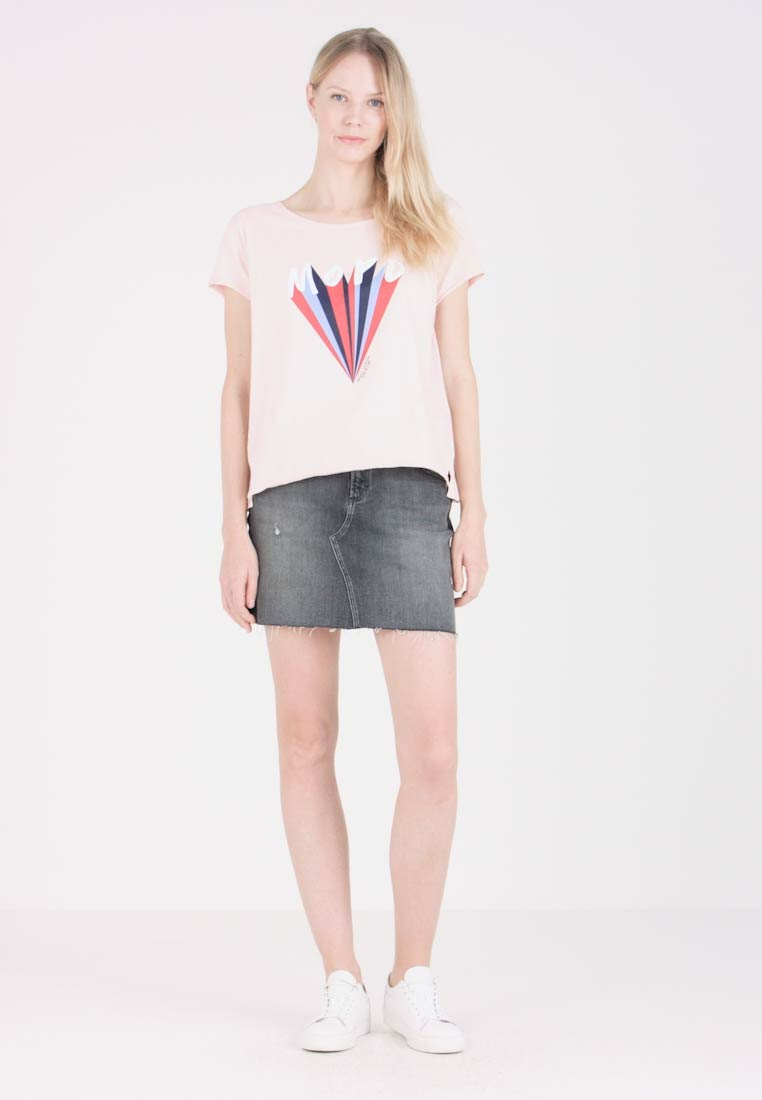 Marc O'Polo DENIM - SHORT SLEEVE WIDE CREW - T-Shirt print - pasture rose